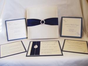 Midnight Blue Swarovski Wedding Set