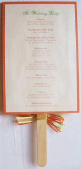 Wedding Program (Back)