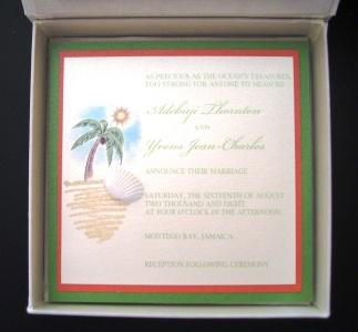 Caribbean Silk Box Invitation (Inside)