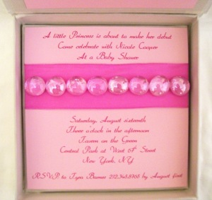 Pink Baba Invitation Insert