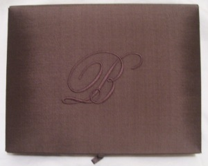 Silk Box with Monogram