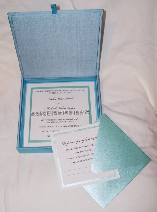 Something Blue Wedding Invitation (Inside) ©House of Papier 2009