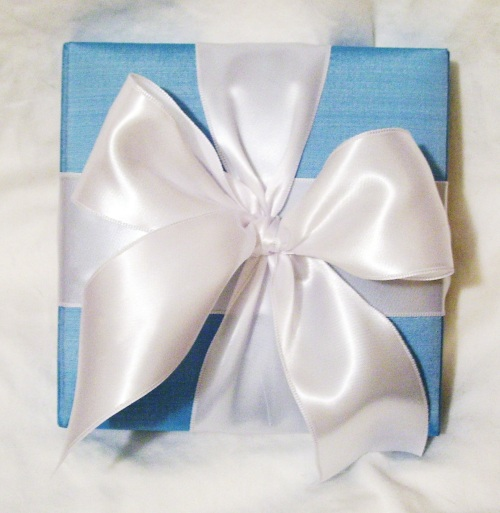 Something Blue Wedding Invitation (Outside) ©House of Papier 2009