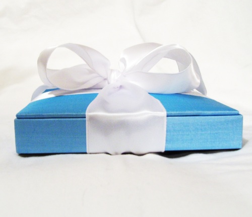 Something Blue Wedding Invitation (Side view) ©House of Papier 2009