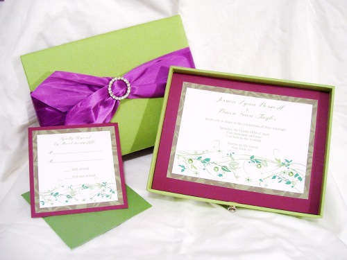 Moss Couture Invitation - House of Papier © 2009