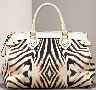 Roberto Cavalli Zebra print bag - the inspiration for the Fuschia Zebra