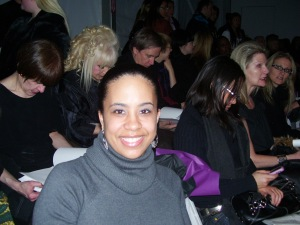 Missy at the Venexiana Show, New York Fashion Week