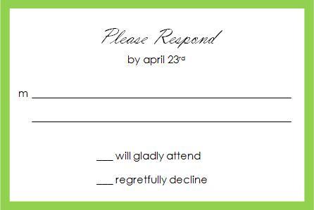 Partridge Response Card - © 2009 House of Papier