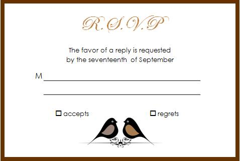 response card wording