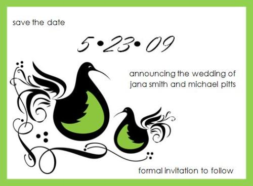 Partridge Save the Date - © 2009 House of Papier