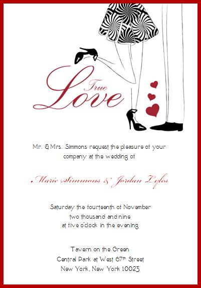 True Love Wedding Invitation © House of Papier 2009