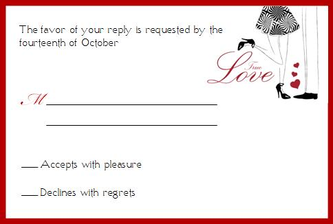 True Love Wedding Response Card © House of Papier 2009