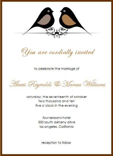 Wedding Invitation © 2009 House of Papier