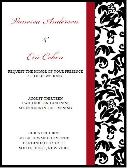 Wedding Invitation © 2009 House of Papier