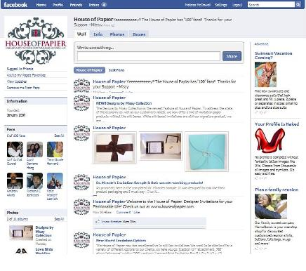 The House of Papier Facebook Page!